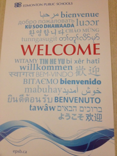 welcome poster